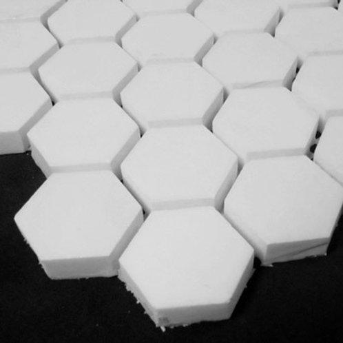 """Bianco Dolomiti Marble 1"""" Hexagon White Mosaic Tile Polished"""