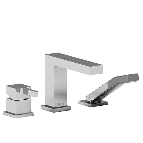 Riobel Mizo 3 Piece Type P Deck Mount Bath Tub Filler Faucet with Handshower