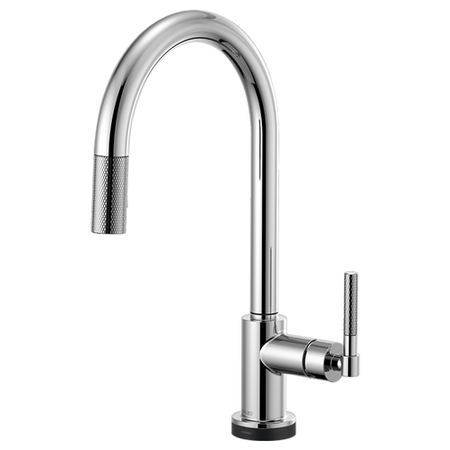 Brizo LITZE® SMARTTOUCH Pull Down Kitchen Faucet With Knurdle Handle 64043LF