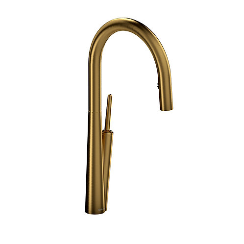 Riobel Solstice SC101BG Kitchen Faucet with Spray Brushed Gold