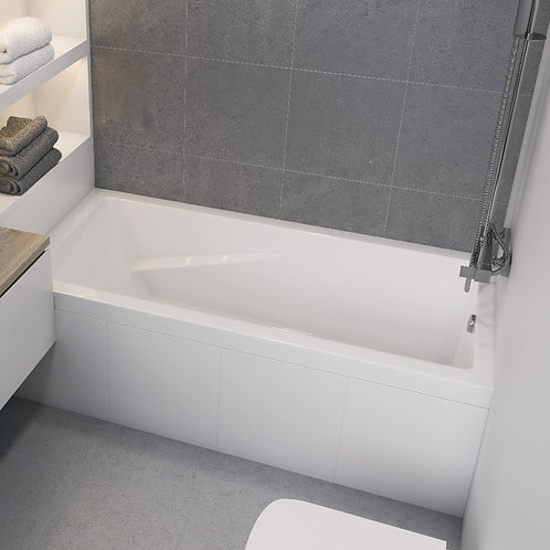 Mirolin Araya Alcove Soaker Bathtub 60x30x20