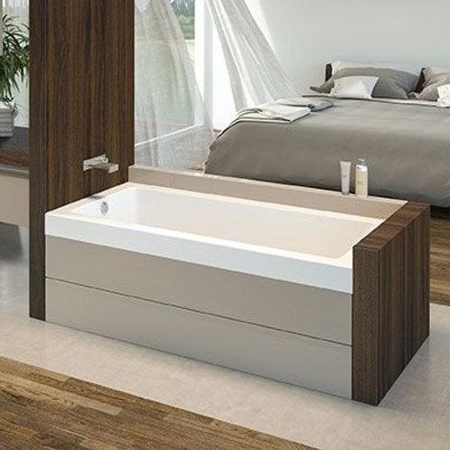 Mirolin Amalfi Alcove Soaker Bathtub 60x32x20