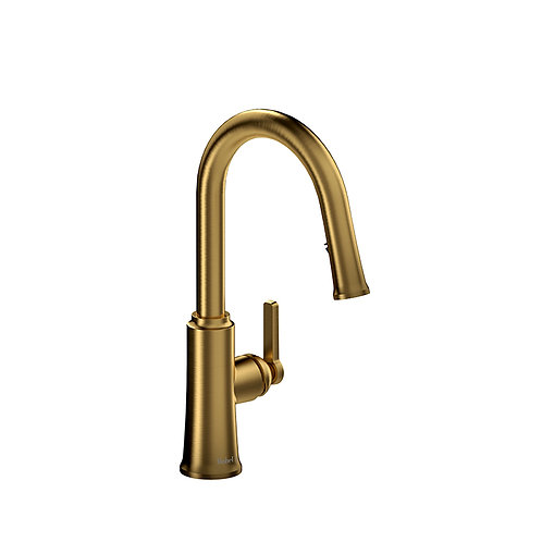 Riobel Trattoria TTRD101BG Kitchen Faucet with Spray Brushed Gold