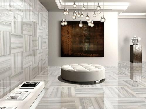 "Venice Gray 24"" x 24"" Polished Porcelain Tile"