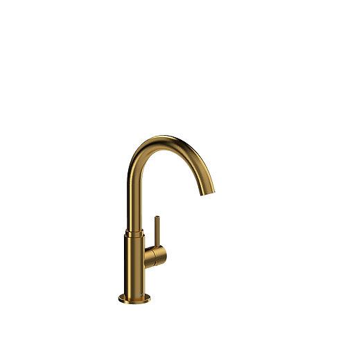 Riobel Azure AZ601BG Single Hole Prep Sink Faucet Brushed Gold