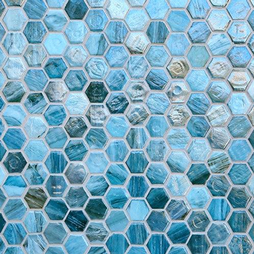 Ceragres Agate Hexagon Mosaic Tile