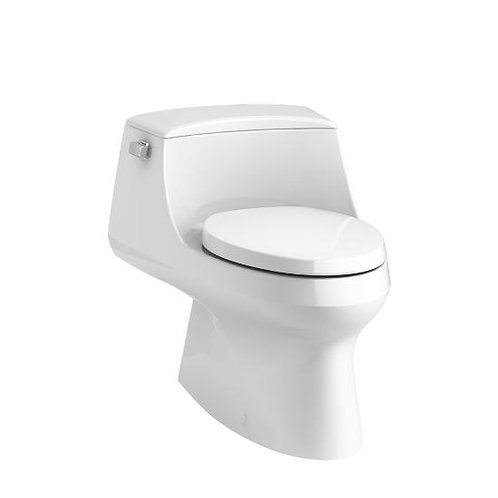 Kohler San Raphael® skirted one-piece elongated 1.28 gpf toilet with left lever