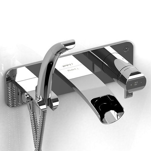 Riobel Salome SA07 Thermostatic Wall Mount Tub Filler Faucet with Handshower