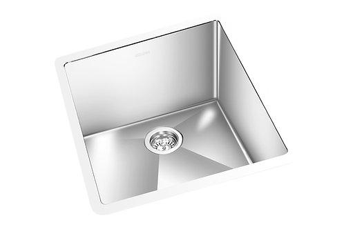 """Square 13""""x15""""x6.5"""" Single Kitchen Sink Round Corner"""