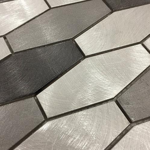 "Ceragres Tint Hexagon 1.5""x4"" Brick Mosaic Tile"