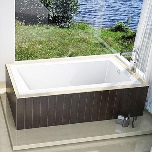 Mirolin Mella Drop In Soaker Bathtub 66x34x22