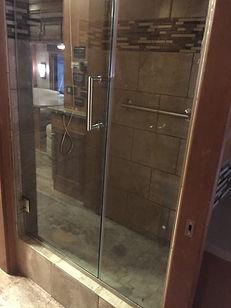 New custom tile shower