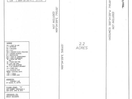2000 Parkway Avenue,Saint Cloud Fl ,Parcel Flag Lot ,2.2 Acres