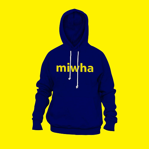 Yellow Letters Blue Hoodie