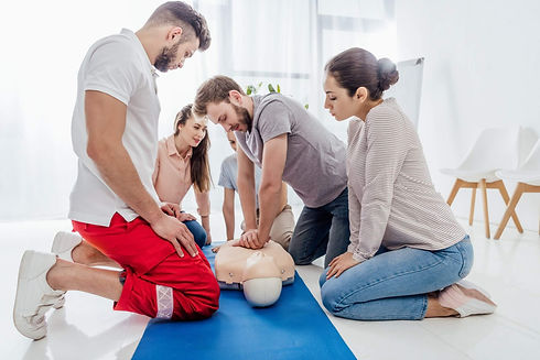 Adults practicing and Pediatric First Aid