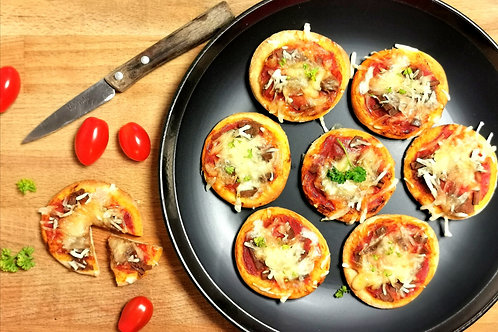 Minis pizza goût jambon fromage x 10