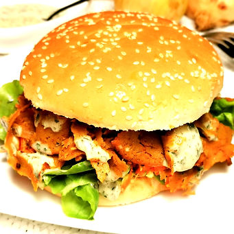 Burger kebab vegan Roots Vegan Food