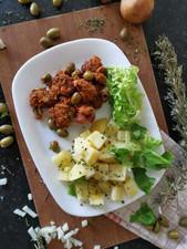 Seitan aux tomates séchées et olives vertes