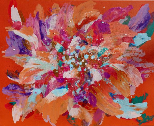 sunset flower bomb ~ sold