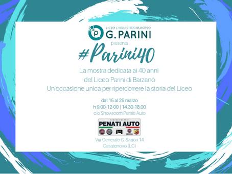 Mostra #Parini40 presso Penati Auto di Casatenovo