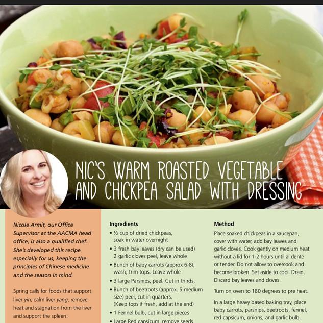 Roasted vegetable & chickpea saland