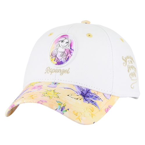 Disney Princesses Tangled Rapunzel Baseball Cap with Floral Bill