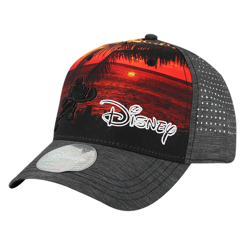 Disney Mickey Mouse Print Baseball Cap with Embroidered Logo
