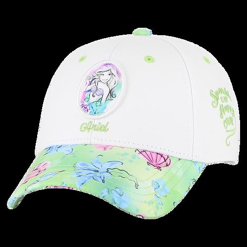 Disney Princesses The Little Mermaid Ariel Baseball Cap with Floral Bill