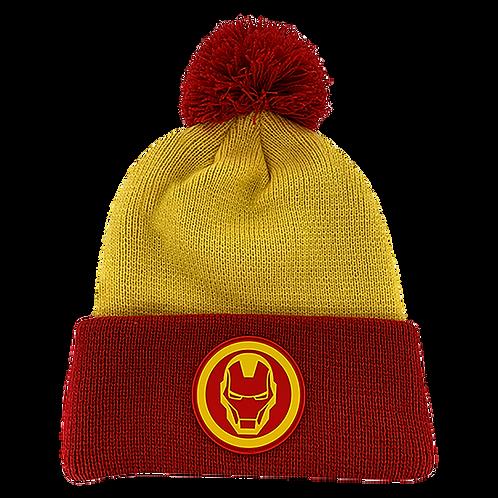 Marvel Avengers Iron Man Pom-Pom Beanie Hat