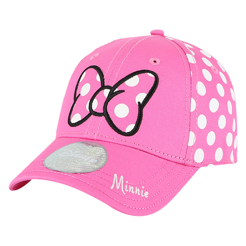 Disney Minnie Mouse Bow Baseball Cap with Embroidered Logos