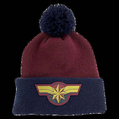 Marvel Avengers Captain Marvel Pom-Pom Beanie Hat