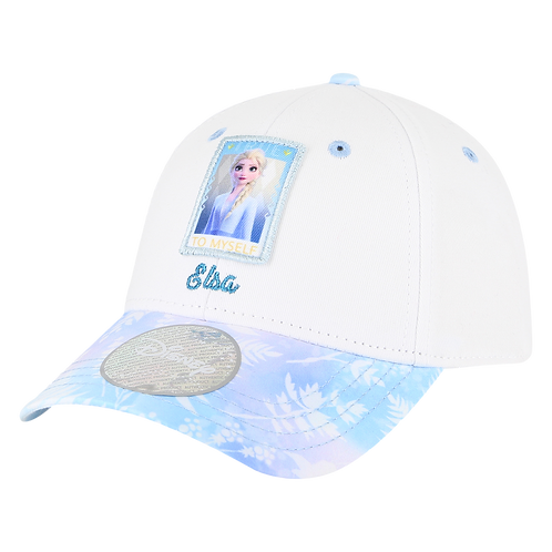 Disney Princesses Frozen Elsa Baseball Cap with Floral Bill