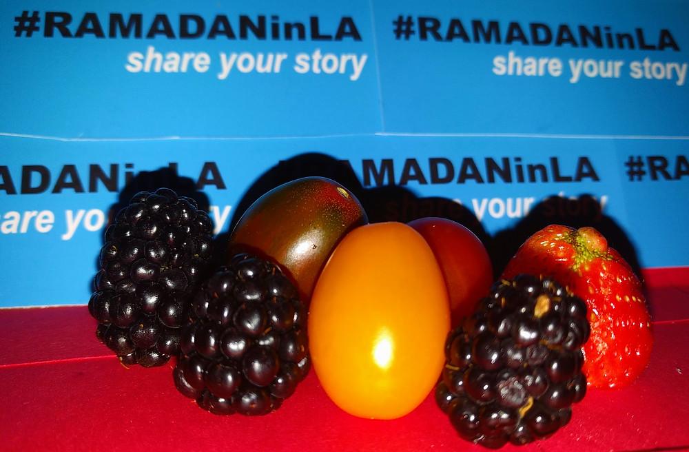 three blackberries, three cherry tomato, one strawberry — #goodtimes