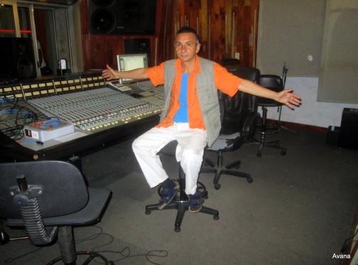 "Editing my new album ""Havana Blue"""