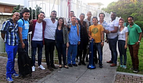 Akashmani Latin Ensemble after recording of Havana Blue, Abdala Studio, Decemeber 2015