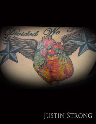 Anatomical heart with wings