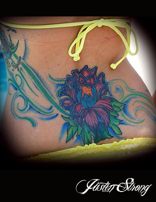 Flower on lower back