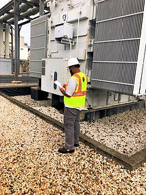 african american male engineer inspecting site