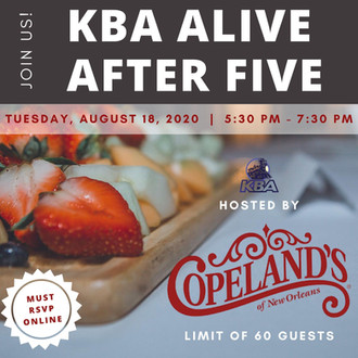 KBA Alive after 5 flyer and social media post