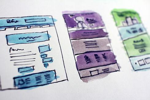 website flowchart in water color