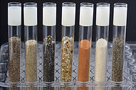 science abstract - glass testing tubes w