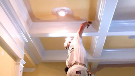 Painting Livingroom Ceiling