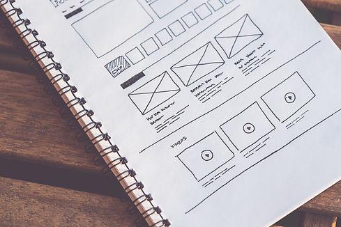 website layout draft sketch