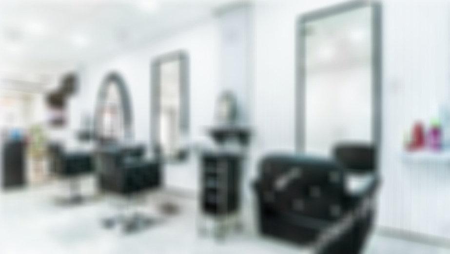 hair salon blurry effect