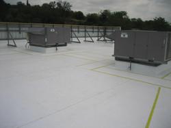 TPO-Walk deck around curbed AC units