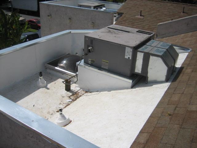 TPO-Custom AC platform and ducting