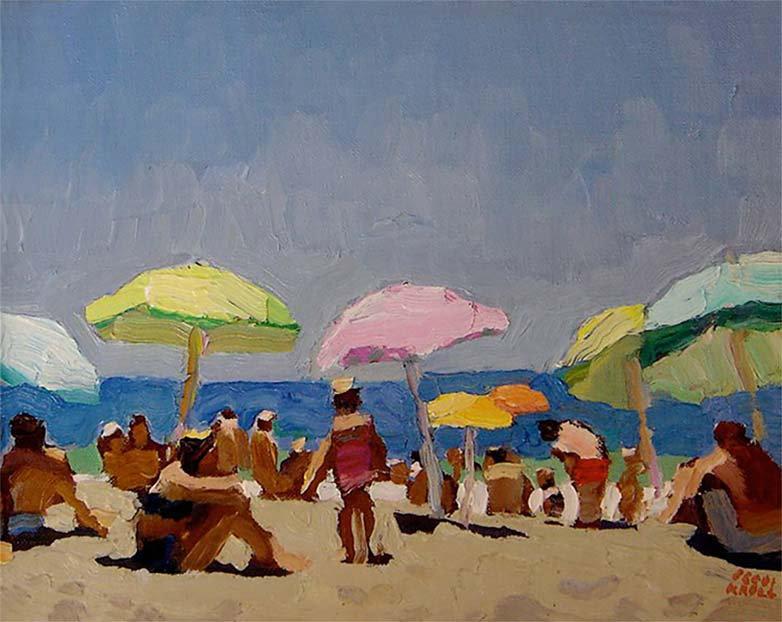 Peggi Kroll Roberts, Oil - Beach Scene