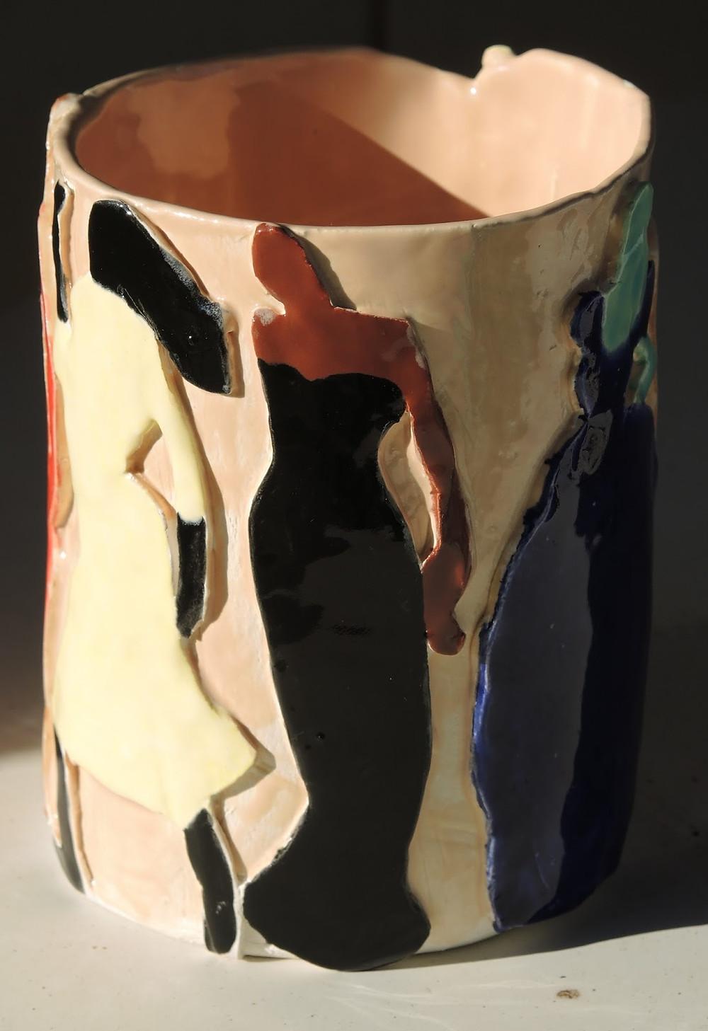 Ceramic vase, Peggi Kroll Roberts