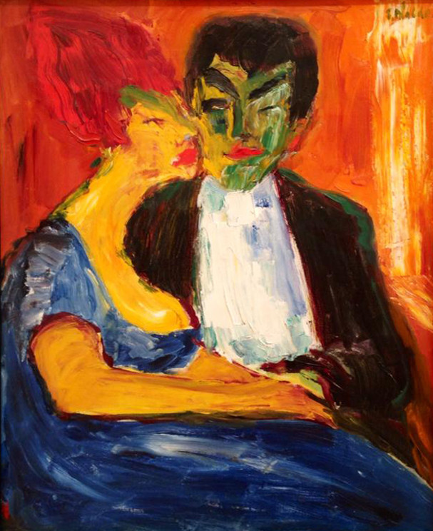 Emil Nolde (1867-1956) At the night bar, 1911