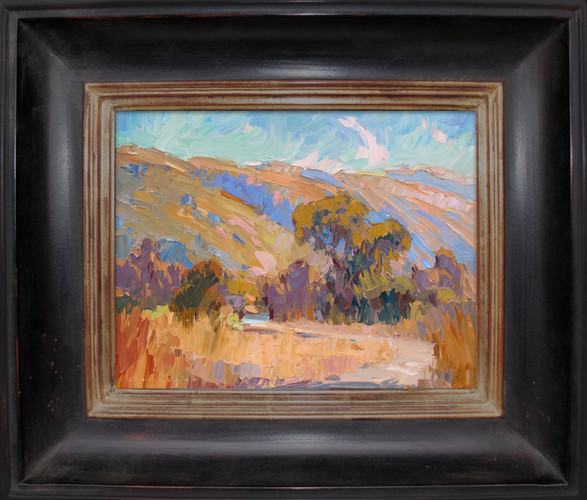 """""""MORNING REQUIEM"""" - SOLD - Oil painting by Carole Gray-Weihman - Frame by Masterworks Frames"""